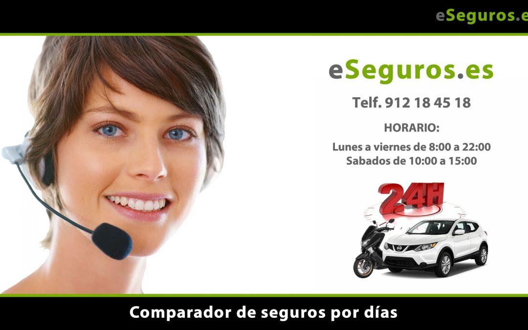 Nuevo Comparador de Seguros por Días en www.eSeguros.es